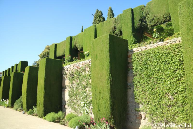 アルハンブラ宮殿 夏の離宮ヘネラリフェの庭園