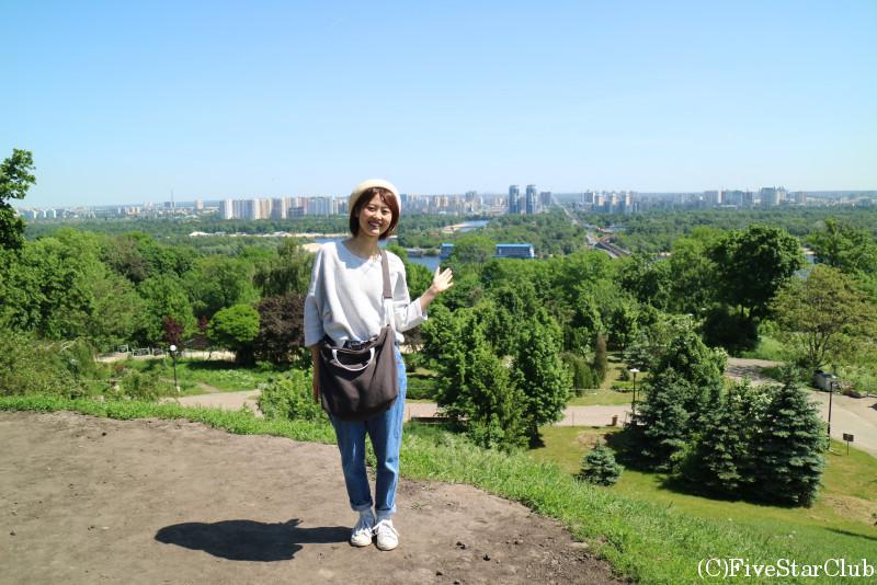 キエフの公園にて