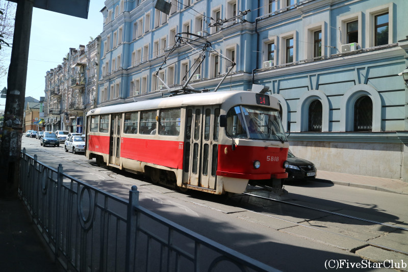 キエフ市内を走る路面電車