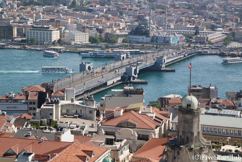 ガラタ塔から見た景色/ガラタ橋