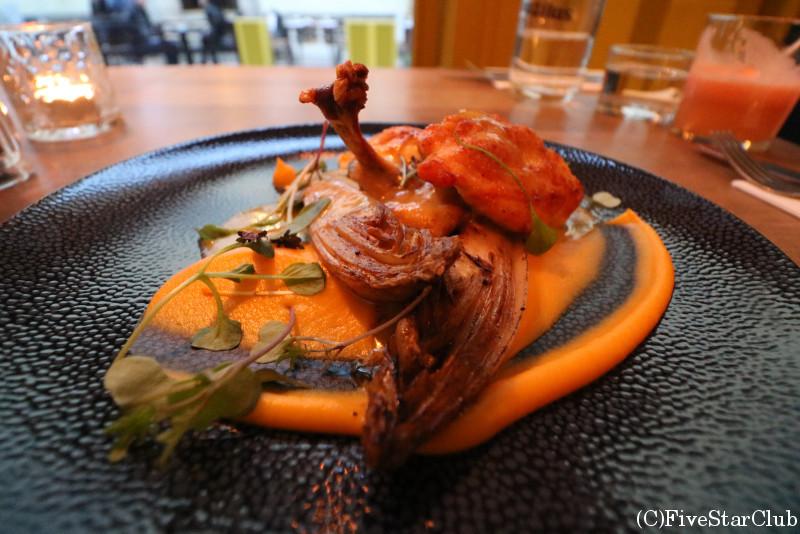 旧市街/エストニア料理(チキン&カボチャのソース)
