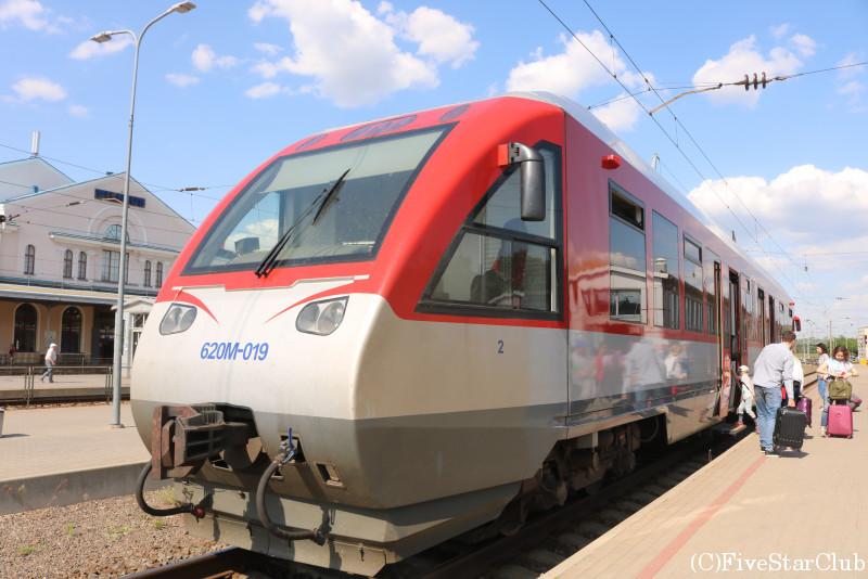 ヴィリニュス駅(空港行きの列車)