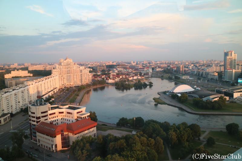 ベラルーシホテルの展望台より