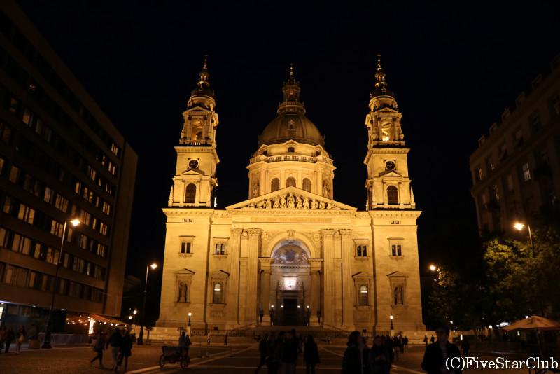 聖イシュトヴァーン大聖堂:夜景