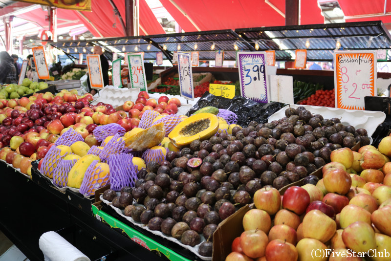 クイーンヴィクトリアマーケットの野菜や果物