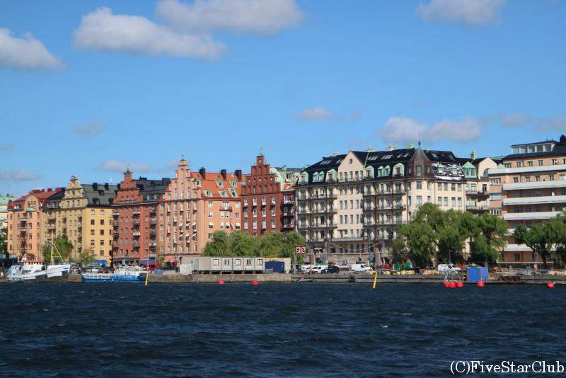 フェリーから眺めるコペンハーゲンの街並み
