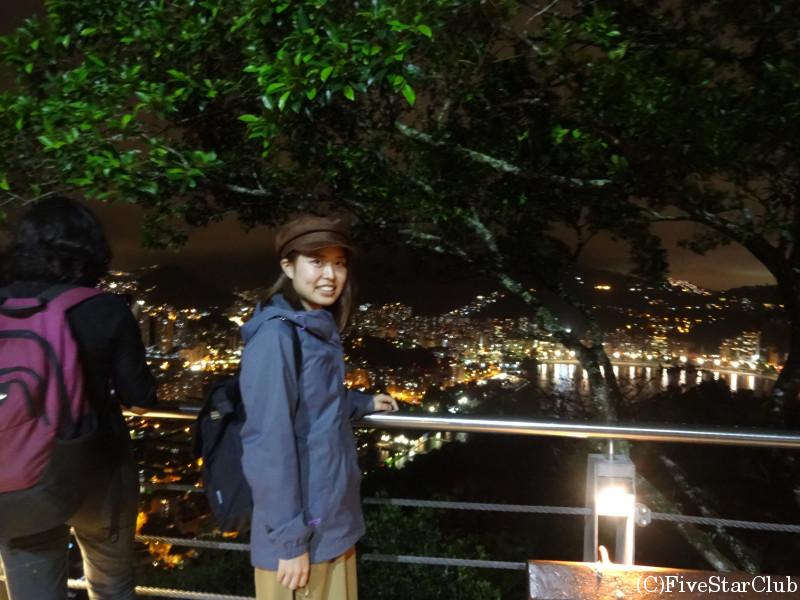 ポン・ジ・アスーカル ウルカの丘からの夜景と私