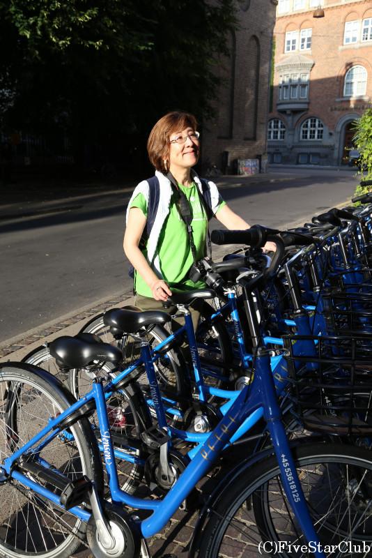 コペンハーゲンの町は自転車が便利
