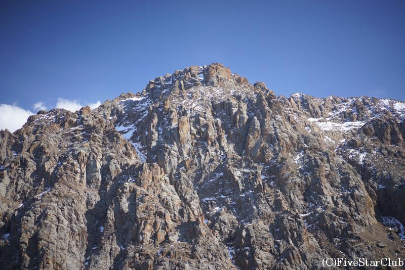シンブラクスキー場の頂上 アラタウが間近に見られる展望台