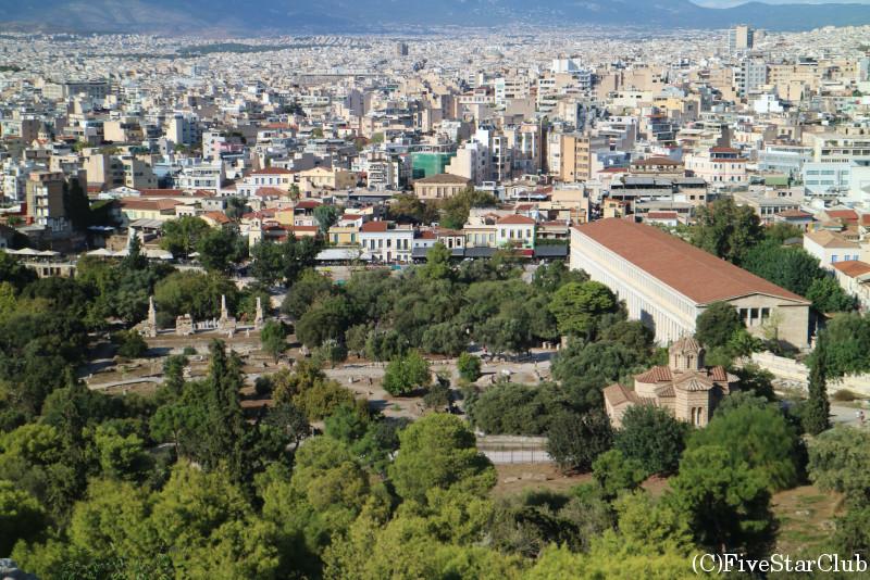 アテネの街を一望