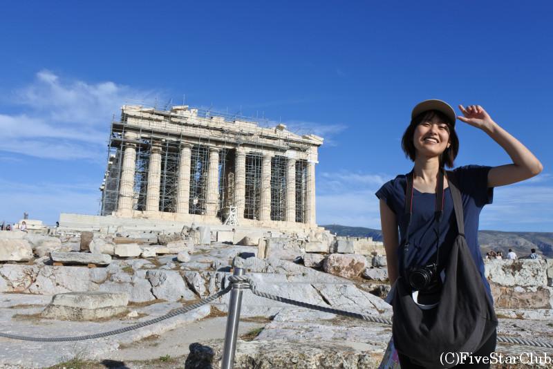 アクロポリス遺跡/パルテノン神殿にて
