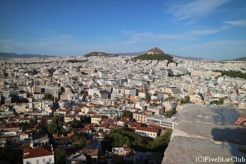 アクロポリス遺跡/展望台からアテネの街を一望