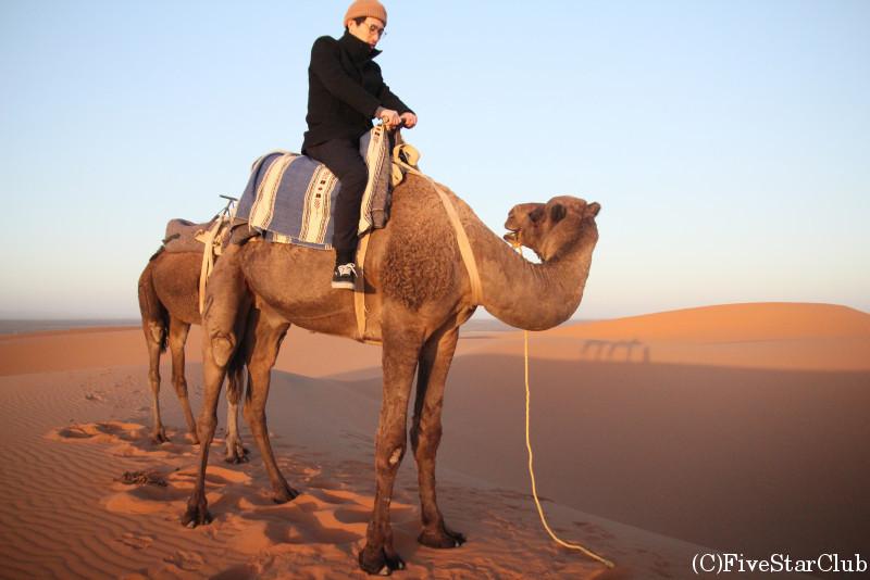 サハラ砂漠で楽しいラクダライド