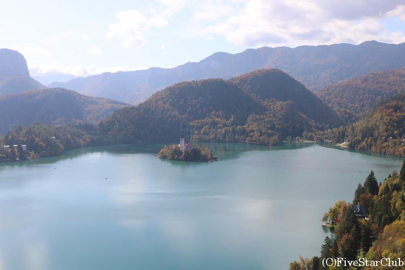 ブレッド湖・ブレッド城からの眺め
