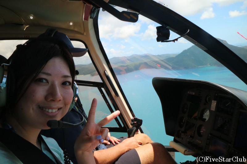 ヘリコプターでグレートバリアリーフツアーへ
