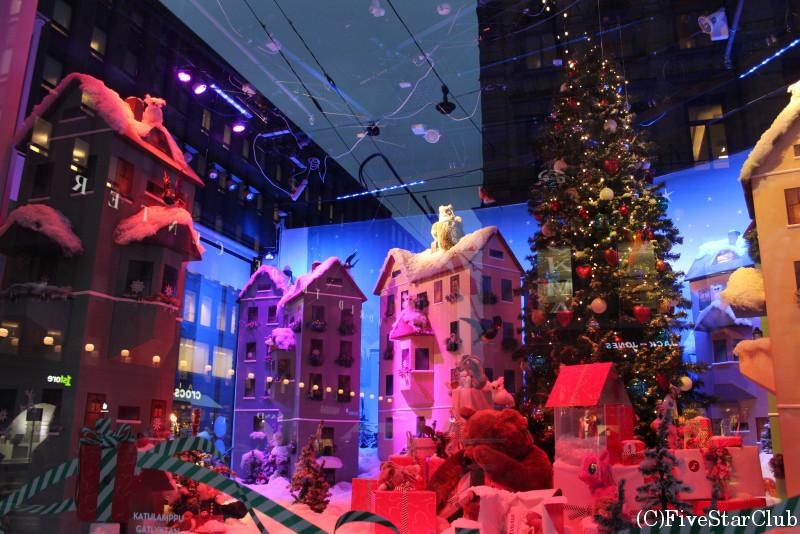 ヘルシンキのデパートのクリスマスデコレーション