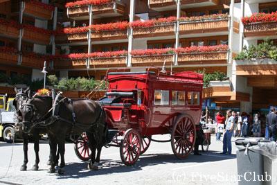 馬車が走る街 ツェルマット