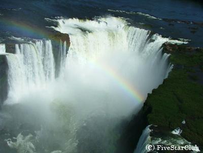空から見たイグアス滝(イグアス滝)