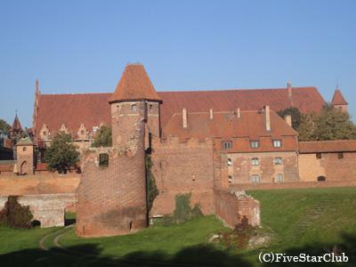 世界遺産のマルボルク城(マルボルク)
