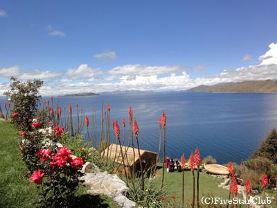 太陽の島からチチカカ湖を眺望(チチカカ湖)