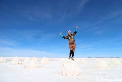 塩の堆積場にて(ウユニ)