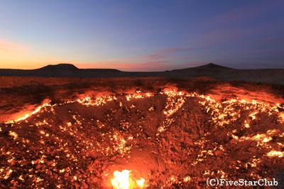 地獄の門/早朝の風景(タルヴァザ)