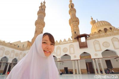 アズハル・モスクにて(カイロ)