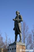 レゾリューションパークの クック船長銅像