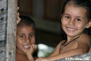 アマゾン川周辺の子供たち