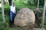 マヤ文明の名残である巨石