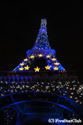 ライトアップのエッフェル塔