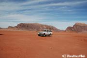 砂漠の景色が美しいワディラム