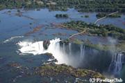 上空からみたイグアスの滝