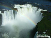 空から見たイグアス滝