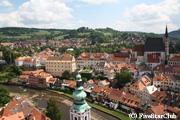 チェスキークロムロフ城から の眺め