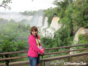 アルゼンチン側のイグアス滝にて