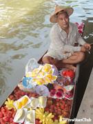 ダムヌン・サドゥワクの水上マーケット(バンコク近郊)