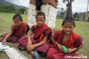 チミ・カランの若い僧侶(プナカ)