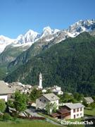 スイス最奥の村・ソーリオ 村の全景