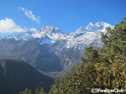 標高5596mの玉龍雪山の展望(雲杉坪/麗江郊外/雲南)