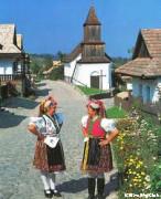 世界遺産のホッローケー村の風景