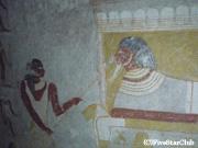 クッル遺跡 ヌビアンファラオ・タルタムン王の母の墳墓内の壁画