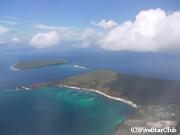 機内からの眺め バルトラ島上空