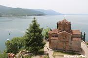 聖ヨハネ・カネヨ教会とオフリド湖(オフリド)