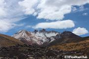 トゥヌパ山の火山口(ウユニ塩湖)