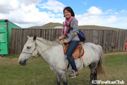 ホテル ゴビモンツーリストゲル/乗馬体験
