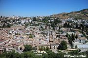 アルハンブラ宮殿からグラナダ市内を眺める