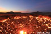 地獄の門/早朝の風景