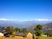 クンプール村から見るガネーシュヒマール連峰(クンプール村)