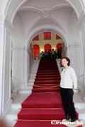 エカテリーナ宮殿/ロマンティックな階段にて